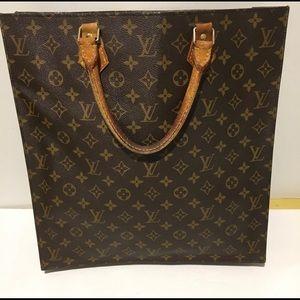 authentic Louis Vuitton Sac Plat